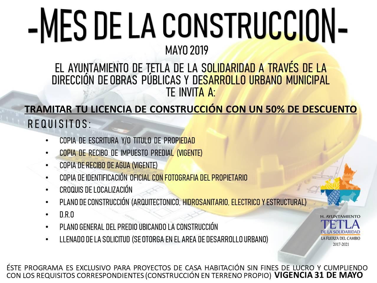 Ayuntamiento ofrece el 50 % de descuento en licencias de construcción