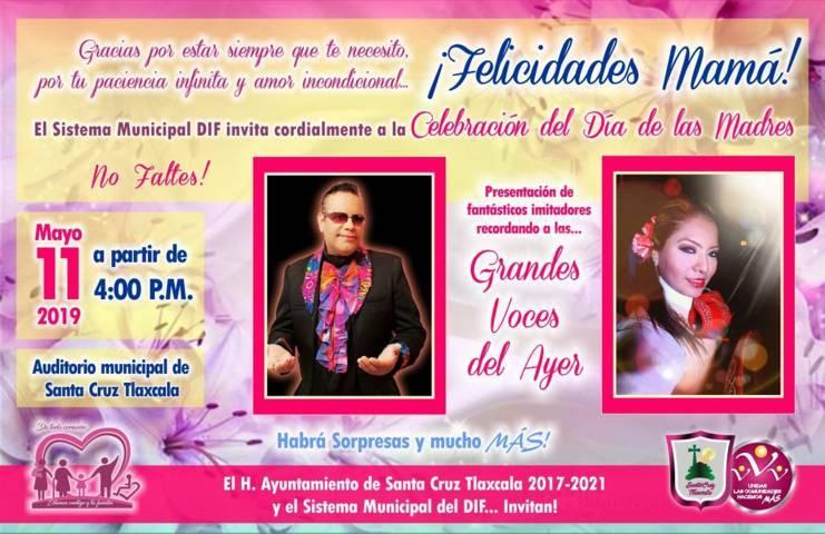 Santa Cruz Tlaxcala alista los preparativos para festejar a las mamás