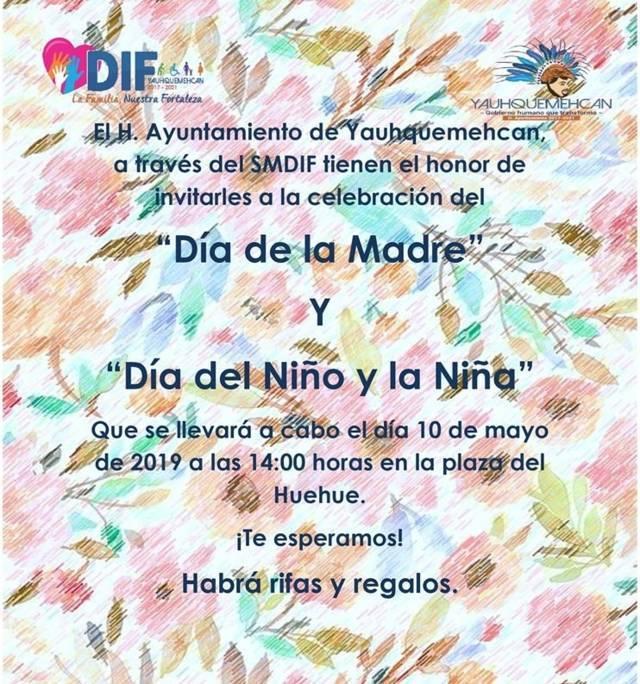 Yauhquemehcan listo para festejar el día de las madres