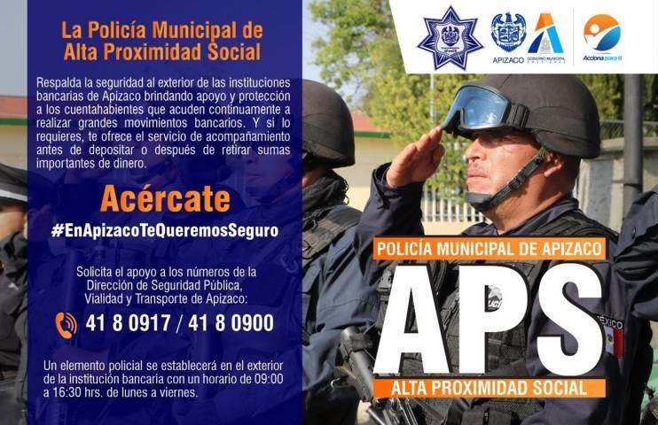 APS, una estrategia más de Seguridad Pública en Apizaco