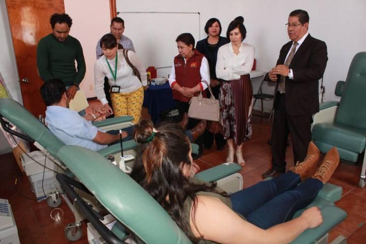 Exitosa campaña de donación de sangre salva 3 vidas en Tetla