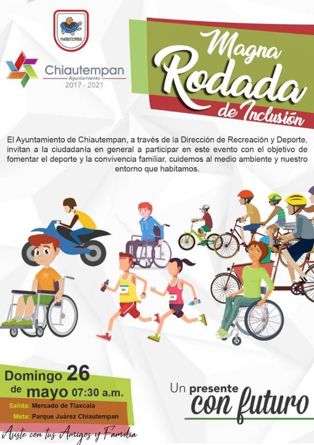 Rodada por la discapacidad en Chiautempan
