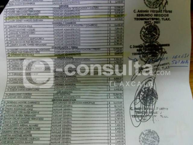 Edil de Tzompantepec quiere irse al cielo, incluye al fiscal en nómina