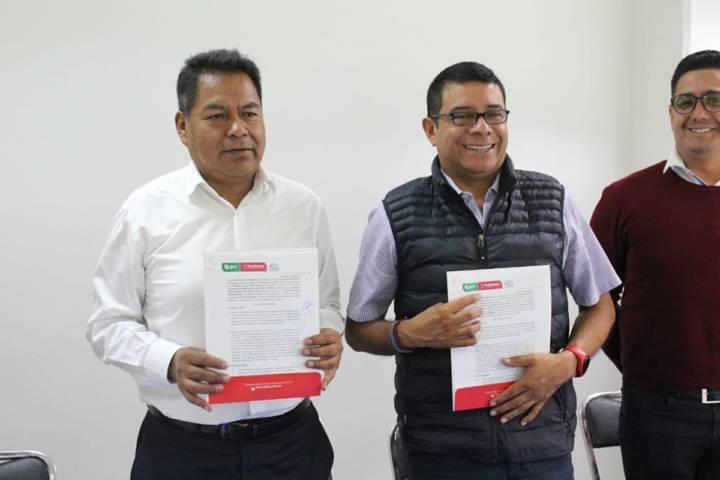 Con esta firma de convenio con la UPT reforzaremos la educación: alcalde