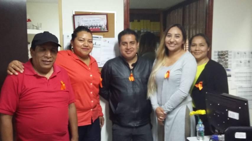 En Tlaltelulco el Instituto Municipal de la Mujer se suma a la campaña Día Naranja