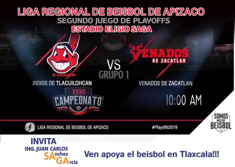 Indios de Tlacuilohcan vs Venados de Zacatlán, invita grupo SAGA