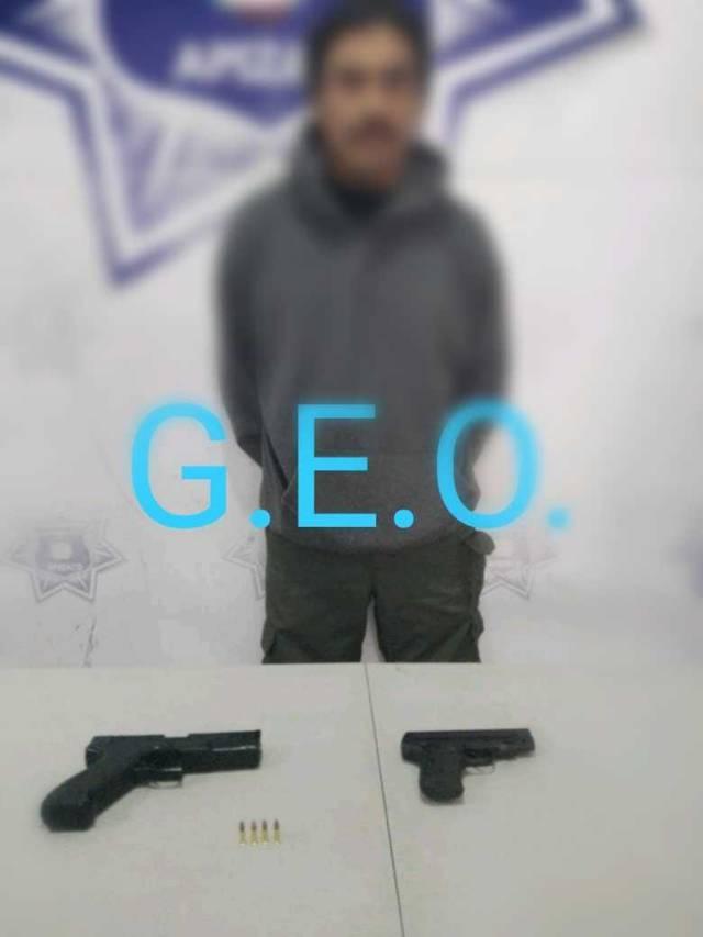 Captura Policía de Apizaco a sujeto que cuenta con tres ingresos al CERESO