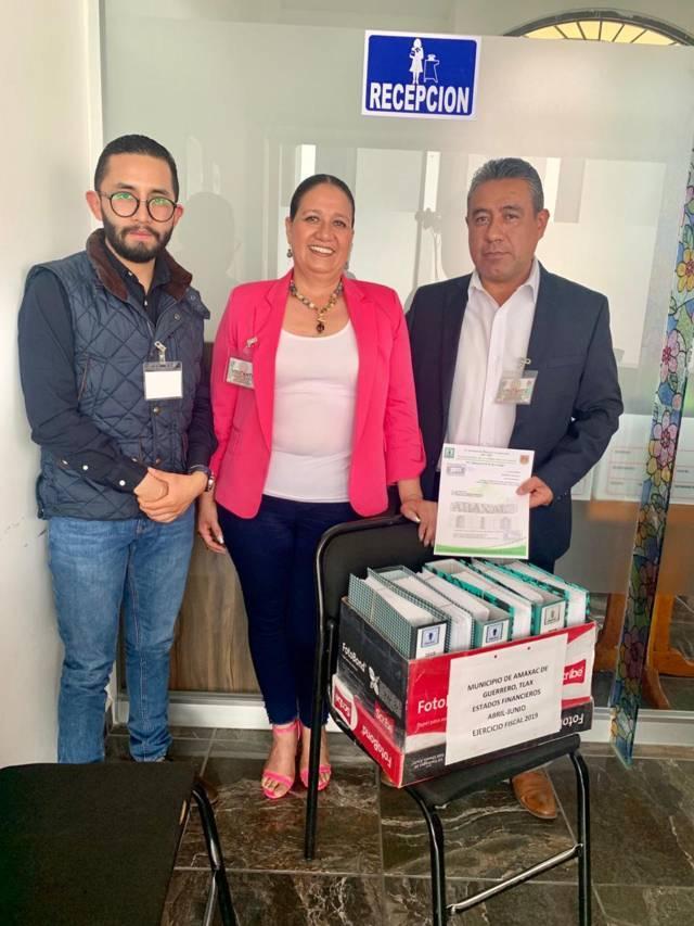 Ayuntamiento de Amaxac es el 1ro en entregar su Cuenta Pública