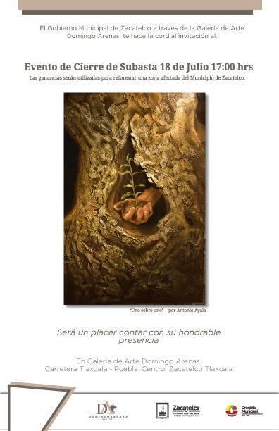 Hoy gran subasta en la Galería de Arte Domingo Arenas de Zacatelco