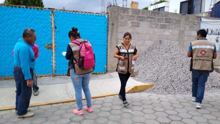 Protección Civil Amaxac realiza acciones en beneficio del transeúnte