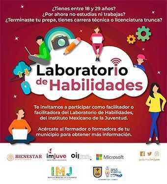 Ayuntamiento invita a jóvenes a sumarse al Laboratorio de Habilidades