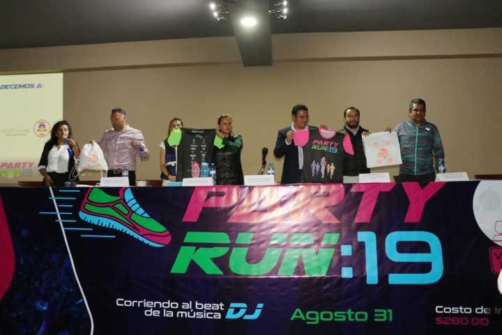 Invita Gobierno de Apizaco a su tercera carrera nocturna, Party Run 2019