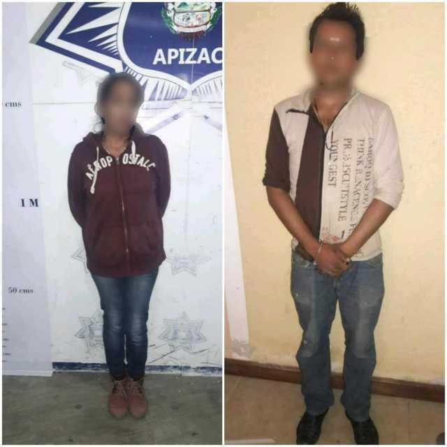Frustra Policía de Apizaco robo a casa habitación, aseguran a una pareja