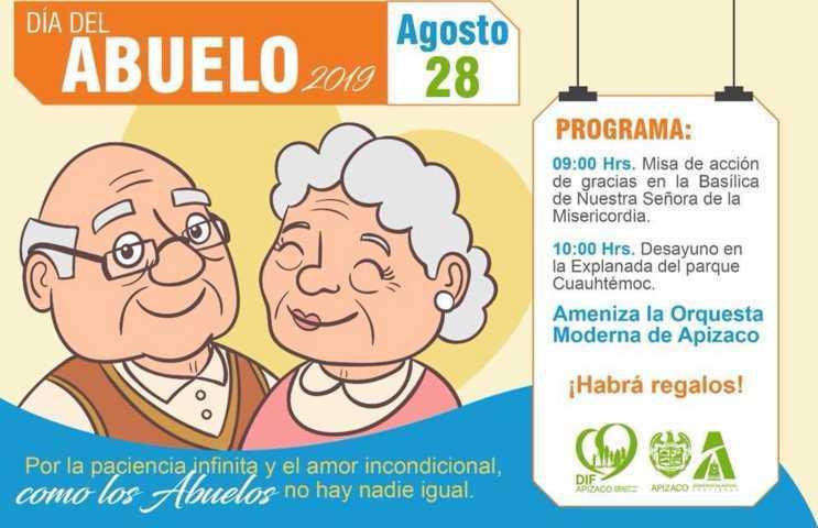 Invita SMDIF de Apizaco al festejo del día del abuelo