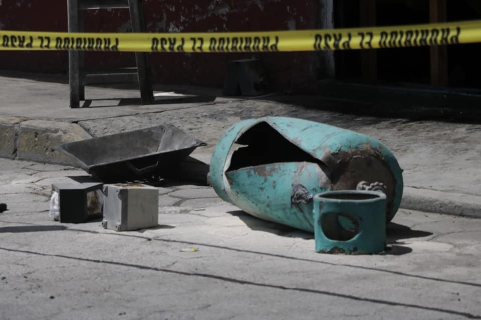 Explota tanque de gas en Zacatelco, hay lesionados