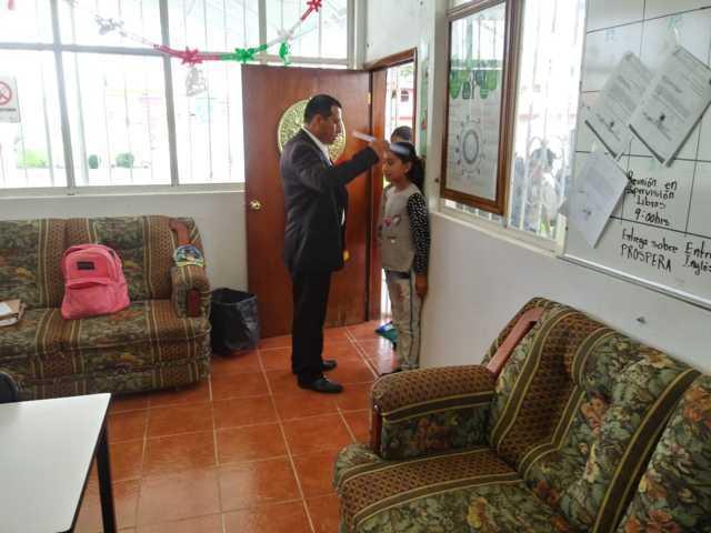 Se llevó a cabo el registro de peso y talla en alumnos de educación básica