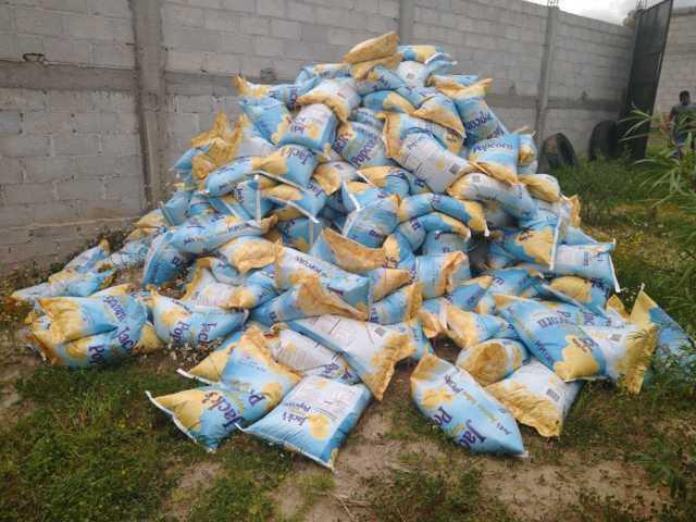 Asegura PGJE más de 300 bultos de maíz palomero en Calpulalpan