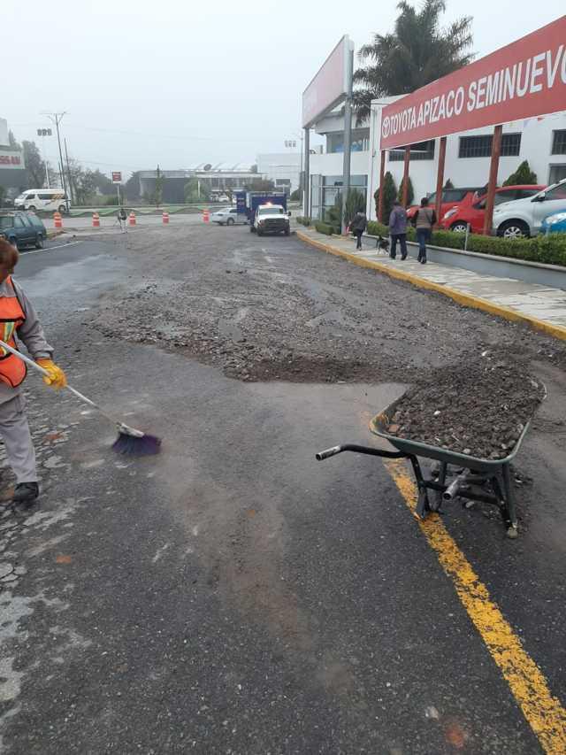 Emprende Apizaco trabajos de limpia en zona de Yauhquemehcan tras lluvia