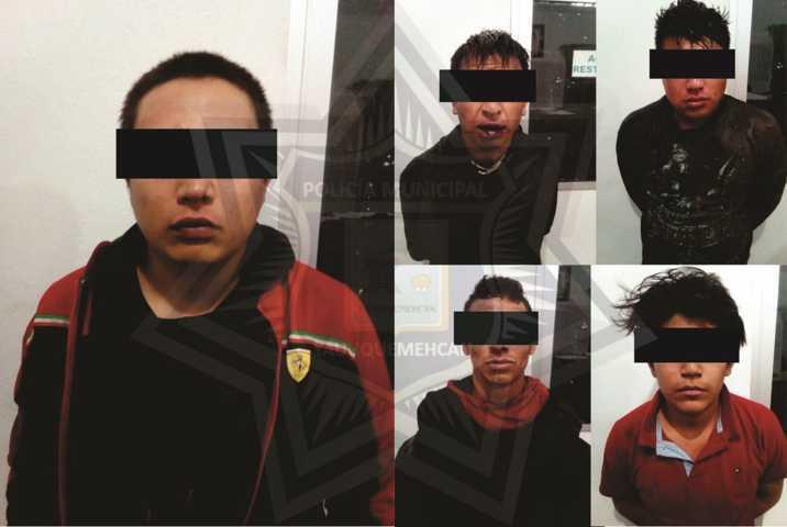 Persecución de película deja cinco hampones detenidos