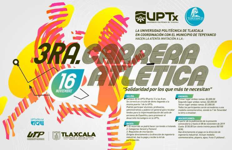Realizará UPTx Carrera Atlética