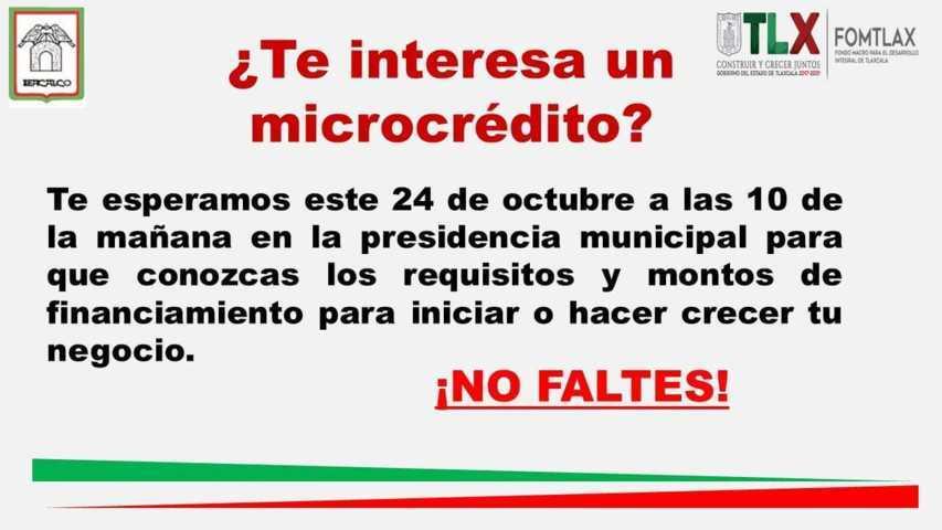 Ofertarán microcréditos en San José Teacalco