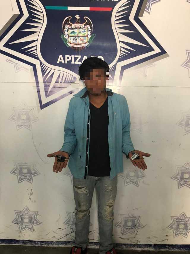 Siguen las detenciones en Apizaco, cae otro por intentar abrir vehículos