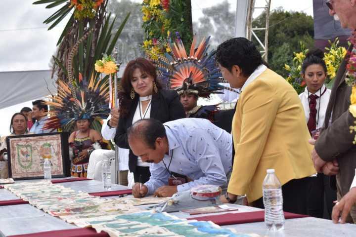 Zacatelco se sumó al hermanamiento de la conmemoración de la matanza de Cholula