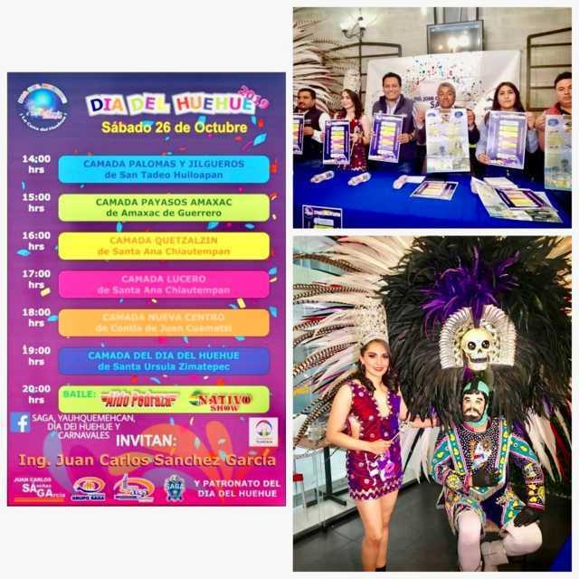 Presentan programa del Día Del Huehue 2019 Santa Ursula Zimatepec