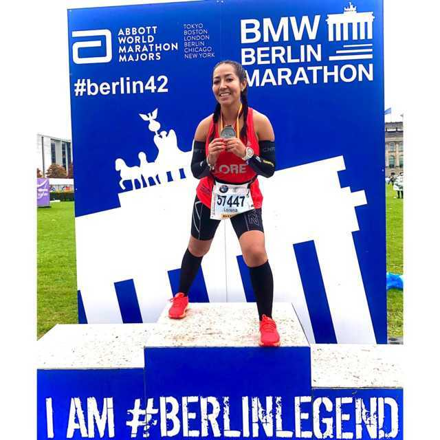 """Lorena Guzmán orgullo nacional y estatal del atletismo; participó en el """"Berlin Marathon"""" 2019"""