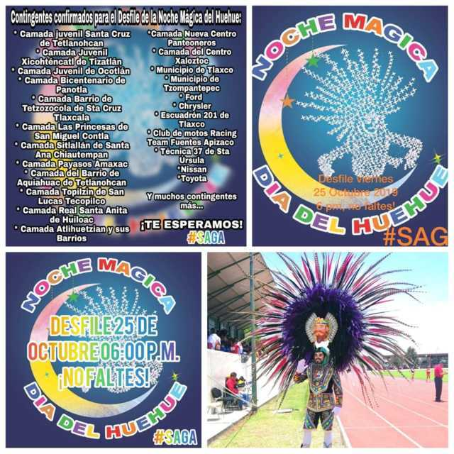Hoy gran desfile de La Noche Mágica Del Huehue, Santa Ursula Zimatepec