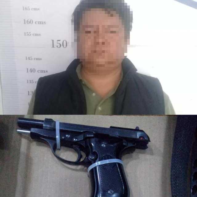 Aseguran a sujeto armado en Apizaco