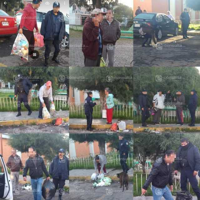 Por tirar basura en la calle, al Juez 10 personas en Apizaco
