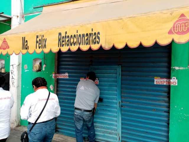 Por no cumplir con sus obligaciones Ayuntamiento suspende negocios