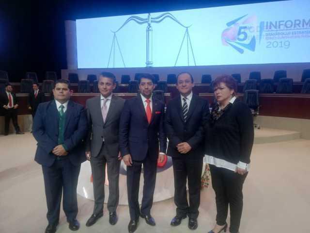 Asiste Presidente del Poder Judicial a Informe de su Homólogo del Estado de México