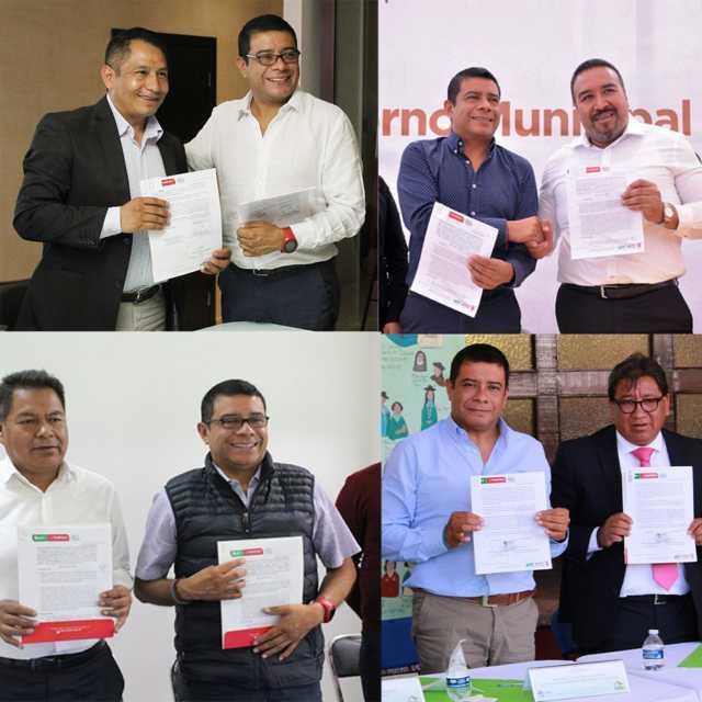 Fortalece Rector de la Uptx relaciones de colaboración con alcaldes del sur del estado