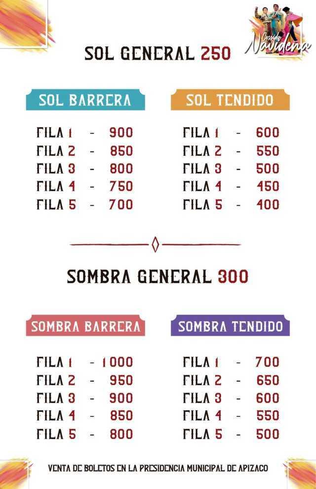A la venta los boletos de la Corrida Navideña, Apizaco 2019