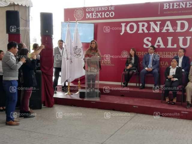 Lorena Cuellar anuncia acciones de bienestar y salud en SPM