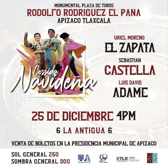 Corrida de toros una tradición en Apizaco, anuncian evento Navideño