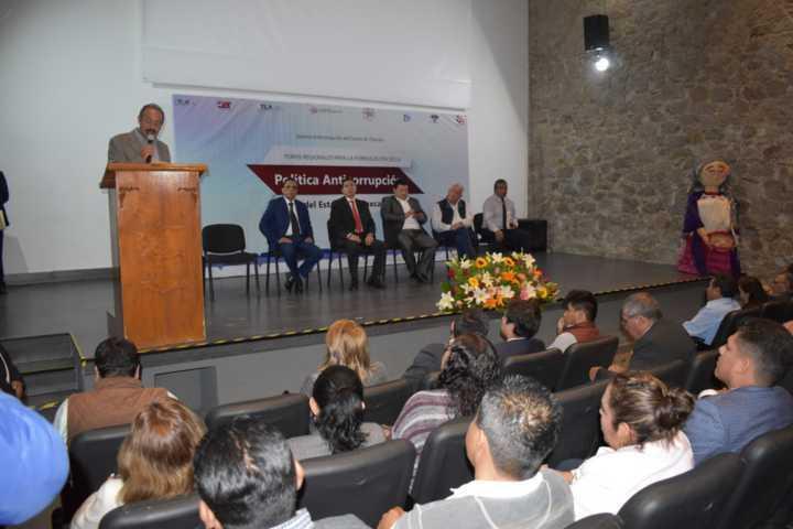 Zacatelco fue sede del 4to foro regional Anticorrupción de Tlaxcala