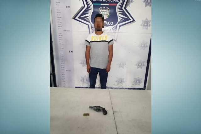 Aseguran a hombre armado en recorridos de seguridad en Apizaco