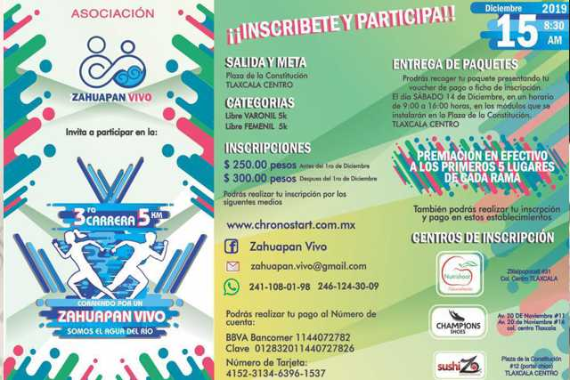 Zahuapan Vivo AC – 3ra Carrera Atlética con Causa Zahuapan Vivo 2019