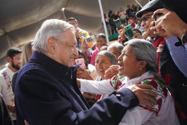 Llama AMLO en San Pablo del Monte a sociedad y gobierno trabajar en unidad