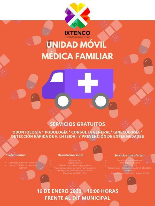 Llegará a Ixtenco la Unidad Móvil de Salud
