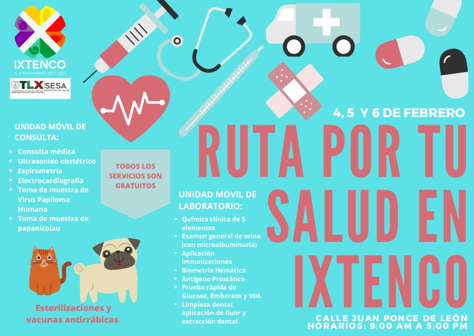Llegará a Ixtenco ruta por tu salud, del 4 al 6 de febrero