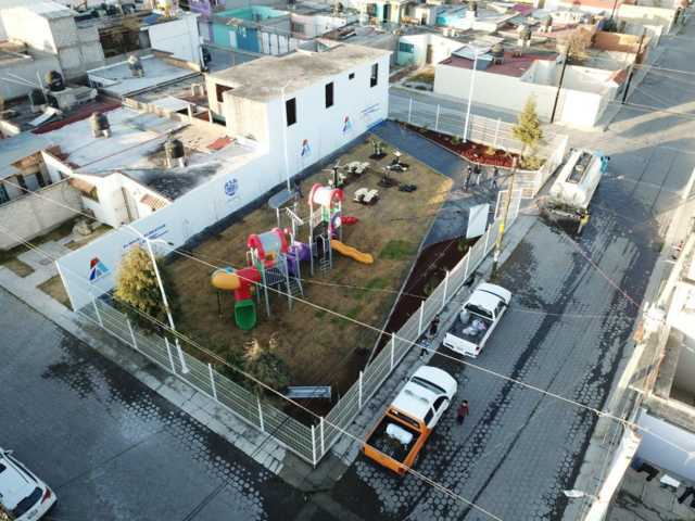 Inauguran nuevo parque en El Coporo de Apizaco