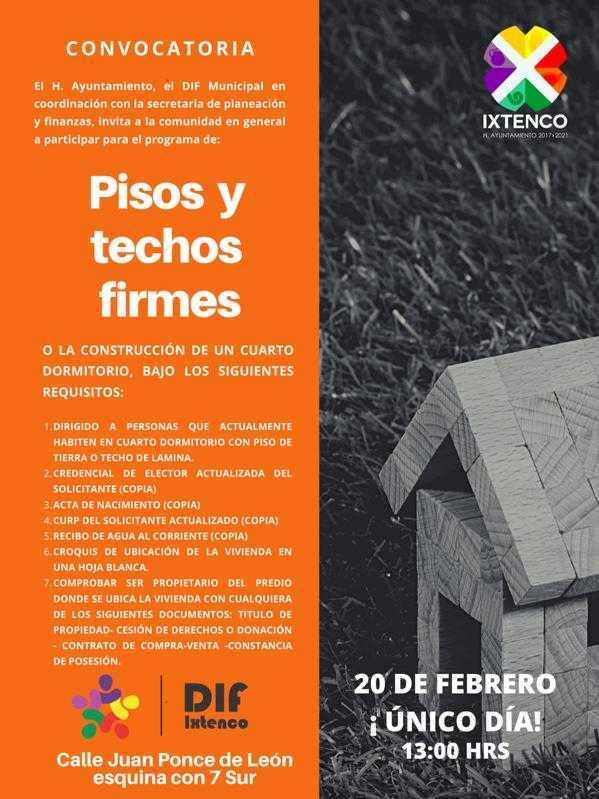 En Ixtenco inicia el programa de pisos y techos firmes
