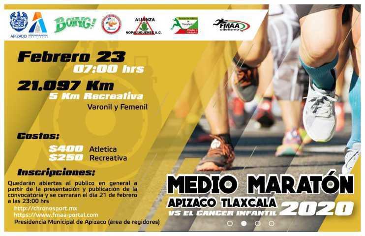 Extranjeros se unen al Medio Maratón en Apizaco