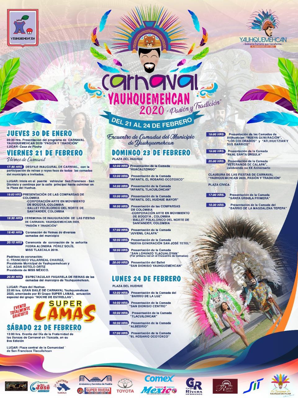 Programa De Carnaval Yauhquemehcan 2020