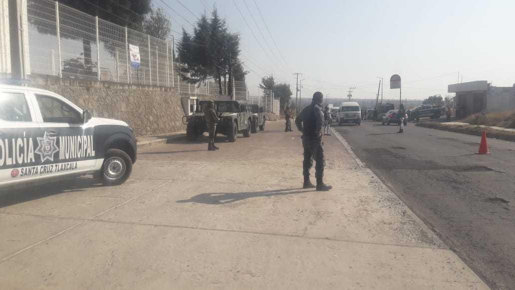 Policía de Santa Cruz Tlaxcala y Guardia Nacional realizan operativos de seguridad