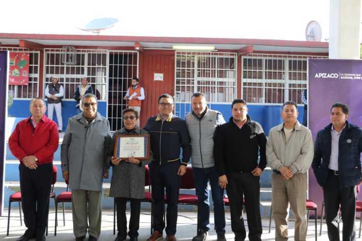 Edil de Apizaco inaugura obra en Telesecundaria de Santa Anita Huiloac